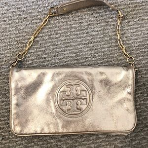 Tory Burch Clutch Purse in Gold
